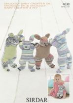 Sirdar Snuggly Baby Crofter DK & Snuggly Baby Crofter 4ply - 4630 Bunnies Knitting Pattern